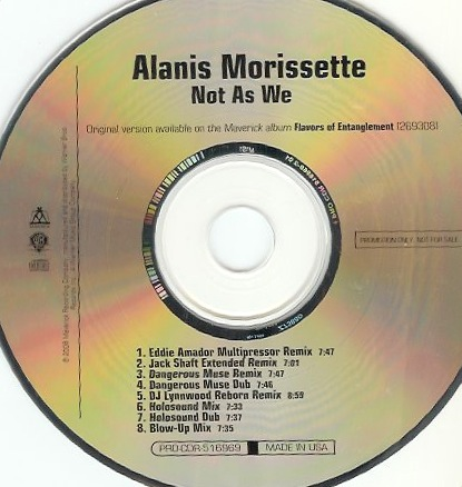 Alanis Morissette - not as we - cd promo