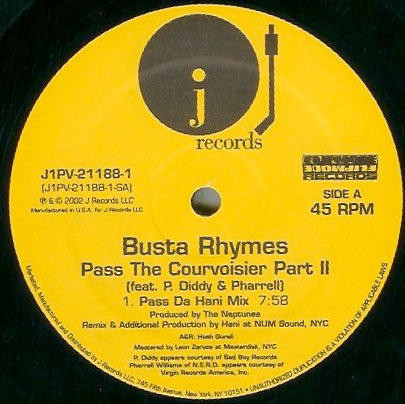 Busta rhymes - pass the vinyl 12