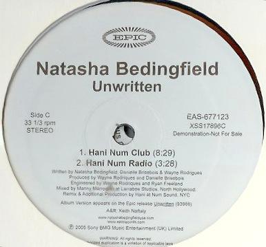 Natash Bedingfield -unwritten - 12 promo